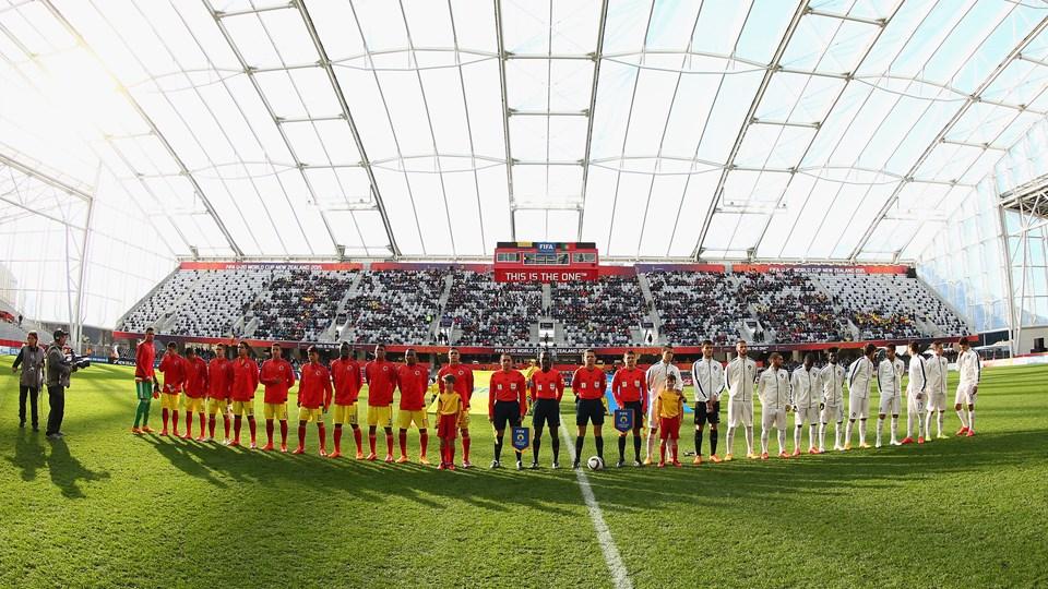 Marco especial para el juego Colombia-Portugal. Juego deficiente de la selección que perdió 1-3, dejó una imagen pálida. Foto Getty Images / Fifa.com