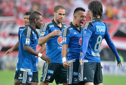 Fernando Uribe, 15 tatos, máximo artillero de la Liga Águila I. Foto tomada del portal Club Los  Millonarios