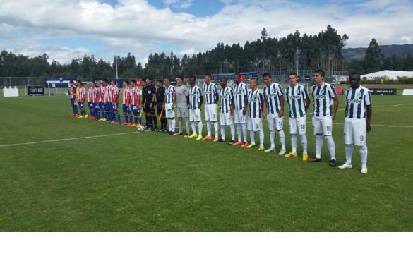 QUITO. Atlético Nacional, equipo de la Primera C dirigido por Hernán Darío Herrera, venció este domingo 4 x 1 a la Selección Paraguay Sub-17 en la Copa Mitad del Mundo y clasificó para cuartos de final. Foto tomada de la página web del Nacional