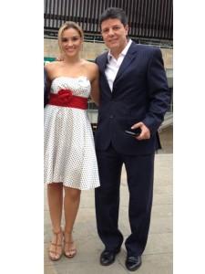 Jorge Piscis Restrepo con su esposa Paola, actualmente residenciados en Apartadó.