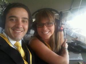 Con Andrea Guerrero en su tiempo de Futbolmanía.