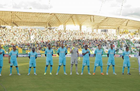 Los titulares el sábado en Armenia contra Huila, Foto tomada de la página web del Atlético Nacional.