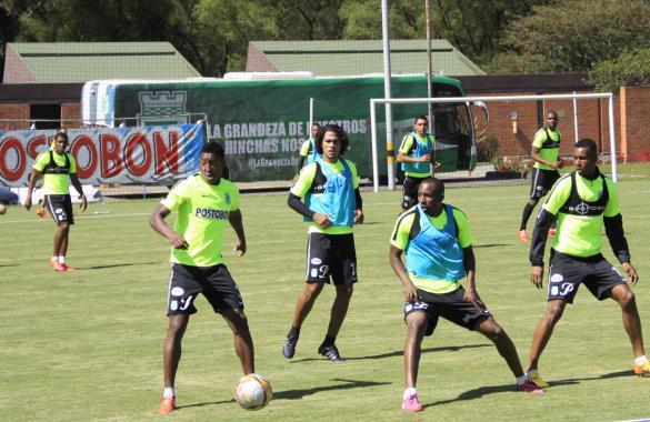Práctica antes de enfrentar a Vélez Sarsfield. Foto tomada de la página web del Atlético Nacional