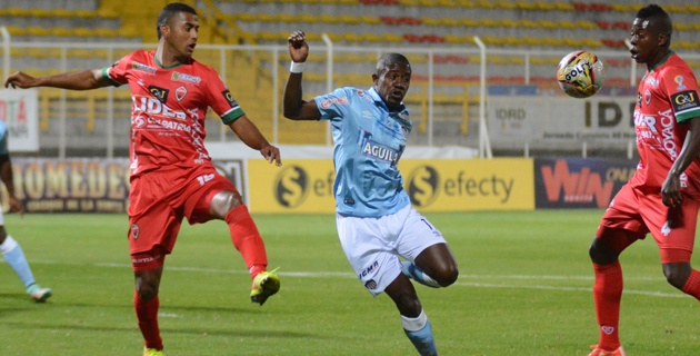 BOGOTÁ. Junior no estuvo a la altura y cayó en Techo con patriotas 1 x 0, gol de Diego Álvarez. Foto El Heraldo.