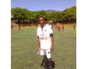 El centro delantero caleño del Once Caldas, Oscar Eduardo Estupiñan, goleador del grupo B. Foto Carlos Julio Serna