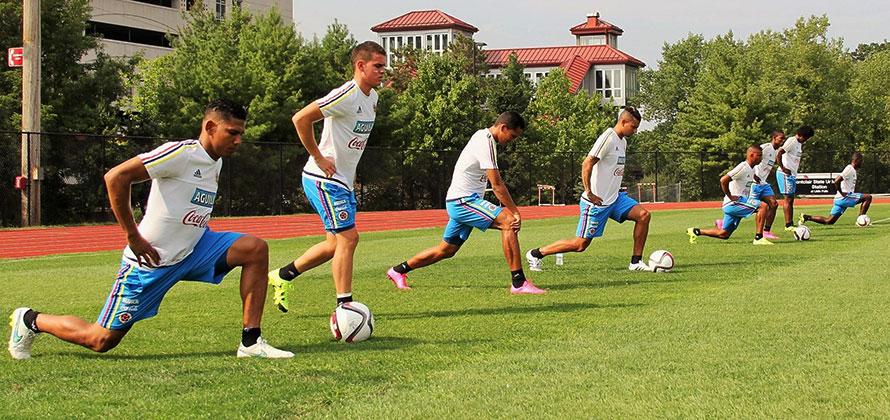 NEW JERSEY. En materia de logística nada le falta a esta Selección de Colombia  que prepara el amistoso del próximo martes contra Perú. Foto Colfútbol