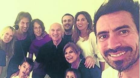 Año 2015. Con su familia, con su yerno Carlos Bianchi. Foto ole.com.ar