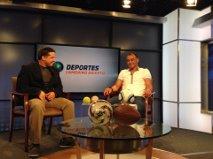 Cafú Interview (en el estudio con Cafú) - entrevista al brasilero en el estudio de mi segmento Camerino Abierto, para NY1 Noticias.