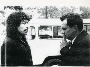 Marroquín con Higuita. Foto LAF