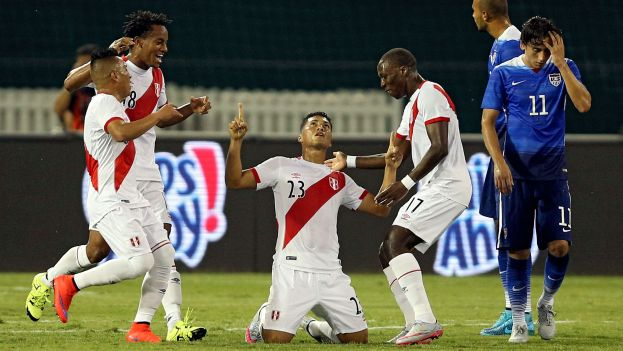 WASHINGTON. Perú, rival de Colombia el martes, abrió la cuenta en el amistoso de este viernes (4) pero finalmente perdió con USA 2 x 1. Foto AFP.