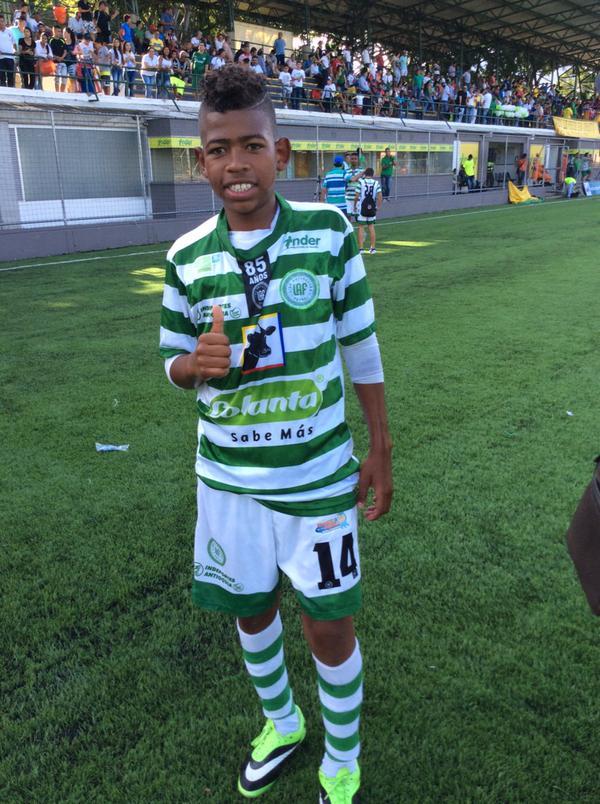 """Juan Manuel Cuesta, le dicen """"Eto'o"""" y fue la figura de #Antioquia en el triunfo 3-2 sobre #Magdalena con 2 goles.  Foto LAF"""