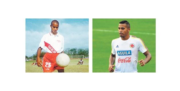 Macnelly cuando defendió los colores de la Selección Atlántico en el 2000. Y el Macnelly de hoy. Los cambios inevitables con el pasar de los años. Fotos tomadas de El Heraldo.