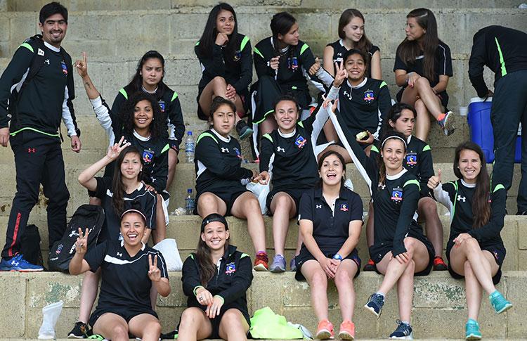 Las chilenas de Colo Colo felices en Medellín y con el deber cumplido porque este domingo disputarán la final de la Copa Libertadores Femenina frente a Ferroviaria de Brasil. Foto Conmebo.
