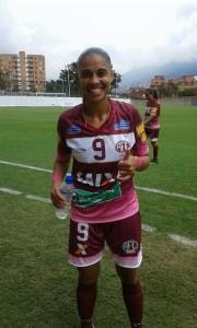 Adriane Dos Santos convirtió el gol de Ferroviaria que clasificó a las brasileñas a la final de la Copa Libertadores Femenina que se reliza en Medellín. Foto Carlos Julio Serna Molina