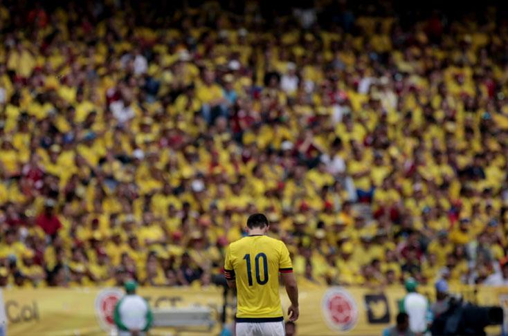 BARRANQUILLA. James después del gran Mundial con Colombia, viene de capa caída no solamente en la Copa América sino en estos dos juegos de Eliminatoria, Esta Selección necesita un Mascherano, un líder en la cancha. Foto tomada de El País