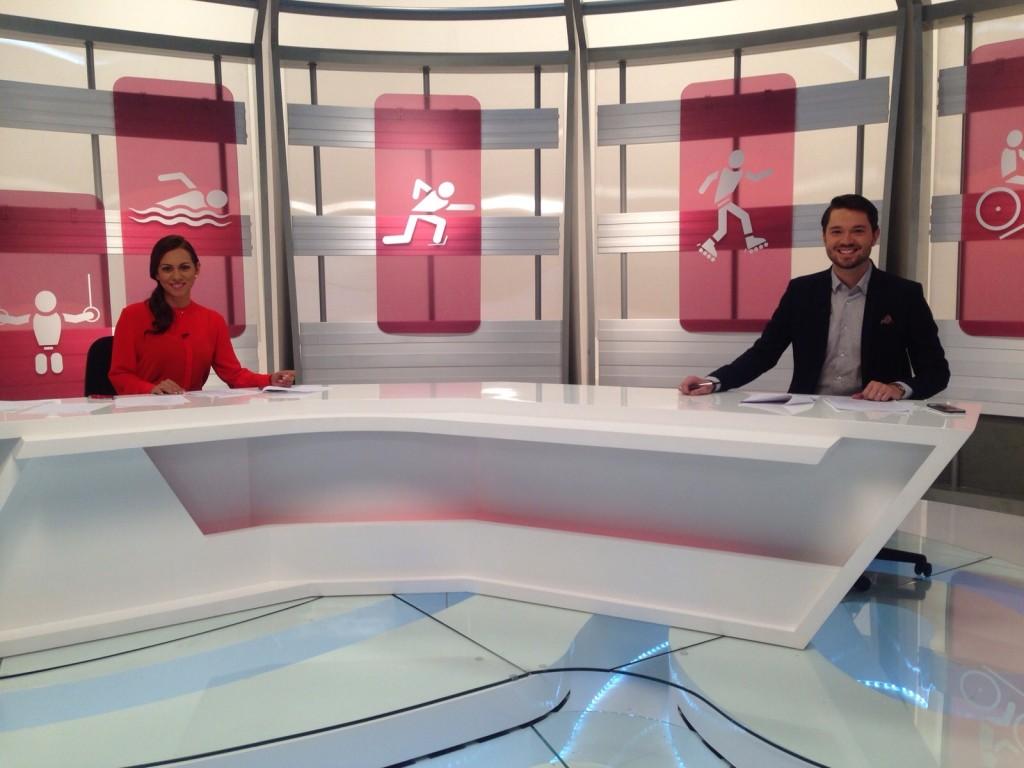 Mónica, actualmente presentadors en Señal Colombia de Juegos Nacionales.