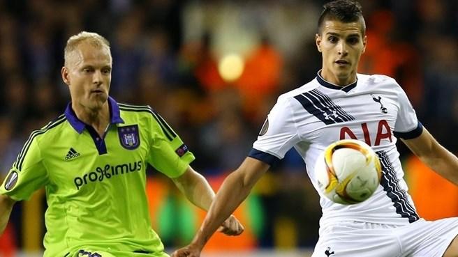Dembelé del Tottenham, centrocampista belga salió desde el banquillo para dar los tres puntos a los de Pochettino que venció al Anderlehct 2 x 1 y ponerles líderes del Grupo J. Foto AFP /Portal oficial de la UEFA