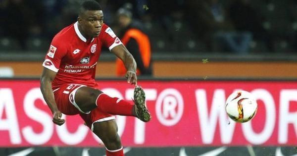 Jhon Córdoba marcó en el triunfo del Mainz sobre Leverkusen. Foto tomada del portal Liga Postobón Deportes.