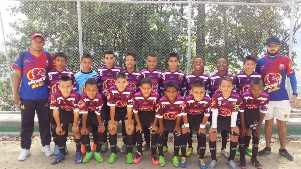 Equipo Pony del club Boca Juniors de Bello.