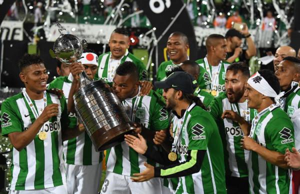 Nacional campeón. Foto tomada de la página web de la Conmebol.