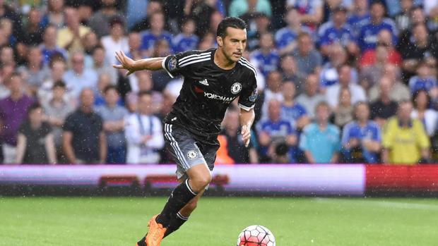 Pedro, durante un partido con el Chelsea. Foto  EFE, tomada del diario español ABC.