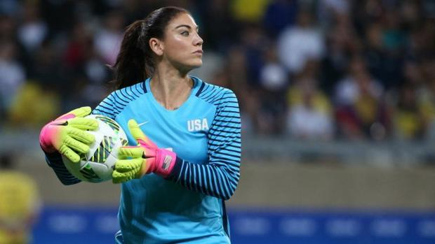 Hope Solo, en un partido de la selección estadounidense - Foto AFP, tomada del diario ABC.