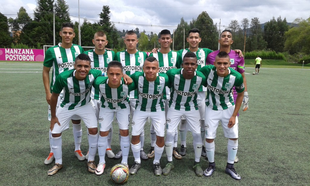 Atlético Nacional Sub-17, orientado por Nicolás Herazo. Foto Carlos Julio Serna / Cápsulas.