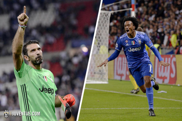 Buffon detuvo un penal. Cuadrado marcó el gol del triunfo de la Juventus ante Lyon. Foto tomada de la página web de la Juventus.