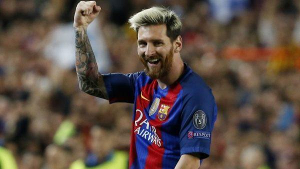 Es la primera vez que Messi marca 'hat-tricks' en dos partidos consecutivos de competición UEFA. Foto tomada de la página web de la UEFA.