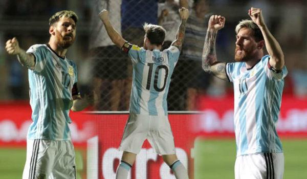 Messi festejó el suyo y puso los otros dos. Foto tomada de ole.com.ar