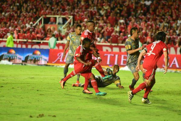 CALI. Brayan Angulo, ex DIM, abrió la cuenta este sábado (10) en el 3 x 1 de América ante Tigres en la final del torneo de ascenso. Foto Club América.