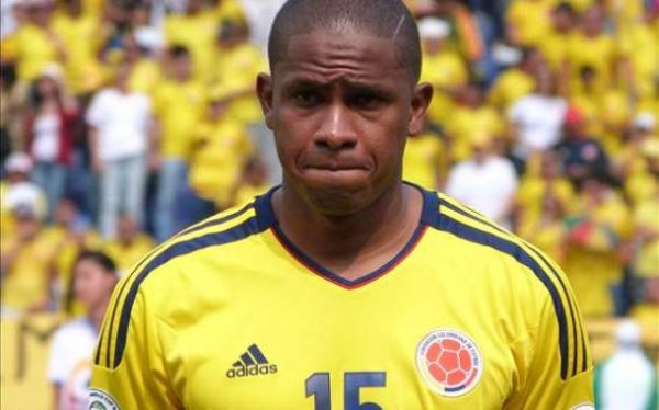 Edwin Valencia un buen paso con la Selección Colombia en la Eliminatoria 2014. No llegó al Mundial por lesión. Foto tomada de antena 2.