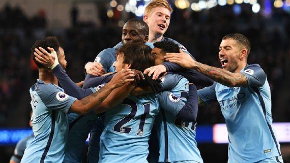 Manchester City superó al Burnley 2-1, goles de Clichy y Agüero en el partido que este lunes (02) abría la segunda mitad de la Premier League y lo hizo con superioridad futbolística. Foto tomada de Espn.