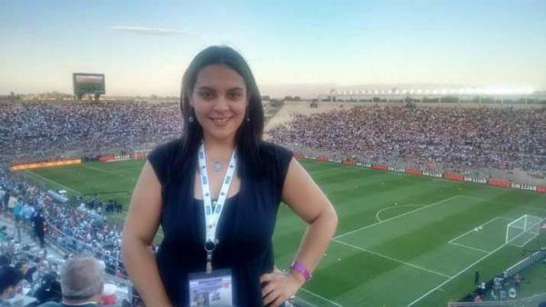 En el Estadio de San Juan del Bicentenario (Arg) en el partido de Eliminatorias vs. Colombia.