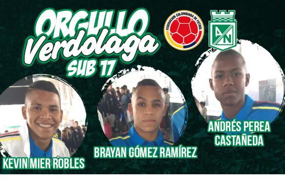 Cuota de Nacional en el Sudamericano-Sub-17