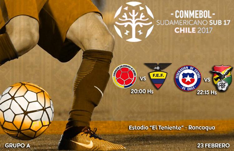 Colombia 2 – Ecuador 1.. Apertura del Sudamericano Sub-17