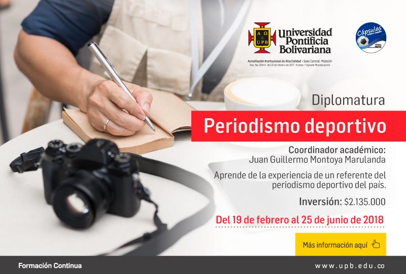 Diplomatura Periodismo Deportivo – UPB