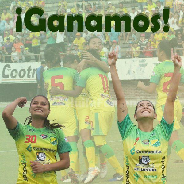 NEIVA, El Atlético Huila se ratificò en el primer puesto del grupo A de la Loga Femenina, al vencer hoy sábado (05) al Bucaramanga, 2x0.