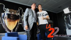 """El primer programa de """"La 22 con Faryd"""" fue con Cristiano Rolando. Foto cortesía."""