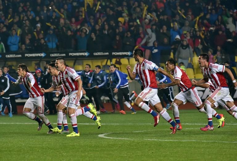 CONCEPCIÓN, Chile. Paraguay avanzó a la semifinal de la Copa América de Chile-2015 al eliminar a Brasil en una tanda penales (4-3) que repitió la historia de hace cuatro años en Argentina. AFP