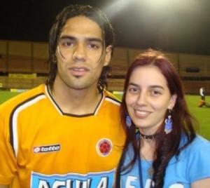 Lina Cardona con Falcao.