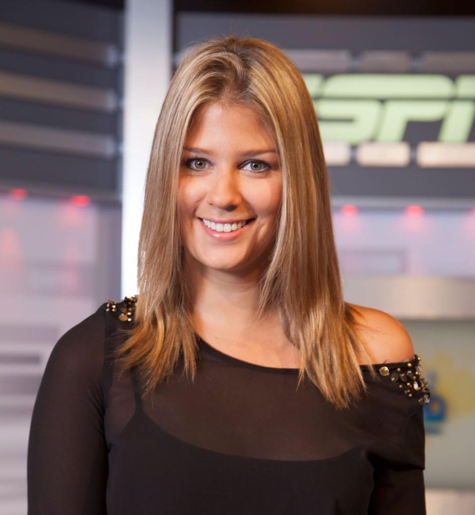 Andrea Guerrero, figura de los deportes en RCn TV y Espn. Foto tomada de espnmediazone.com