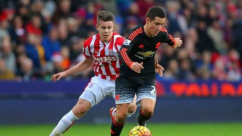 Con goles de Bojan Krkic y Marko Arnautovic, el Stoke City venció al Manchester United, lo que significa siete partidos sin triunfo para los Rojos en todas las competiciones. Foto tomada de la página oficial del Manchester United.