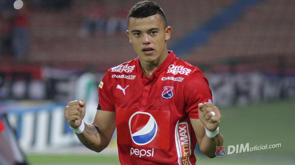 Leonardo Castro abrió la cuenta este miércoles (16) para el DIM que venció a Rionegro por la cuarta fecha de la Copa Águila. Foto dimoficial.