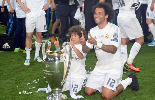 Marcelo campeón, de gran regularidad con el Real madrid. Foto AFP, tomada de la página web de la Conmebol.