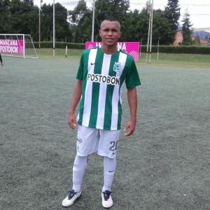 El juvenil goleador Adrés Sarmiento con doblete frente a La Tebaida. Foto Carlos Julio Serna /Cápsulas.