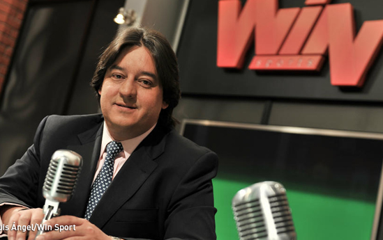 Bogotá- Mauricio Correa, directo canal de deportes WINSports. Foto Luis Ángel tomada de http://www.kienyke.com/