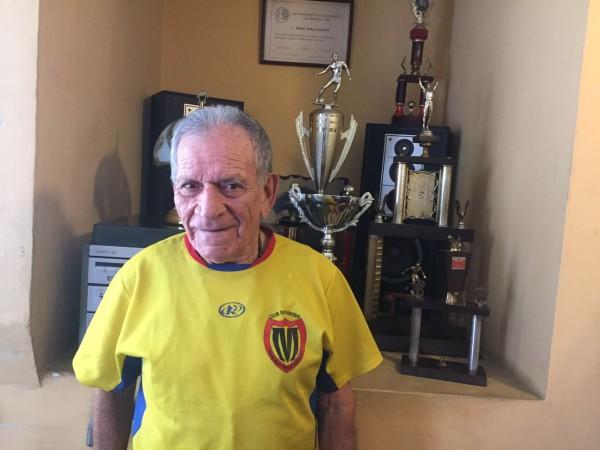 Pedro Pablo Álvarez Rivera, 86 años de edad, hijo de Urrao, cazatalentos sobresaliente. forjador de grandes futbolistas. Con Atlético Nacional trabajo 25 años. Merece un homenaje verde.