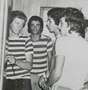 Norberto Peluffo, Bernardo Iván Aristizábal y Eduardo Raschetti, el peludo y de bigote.
