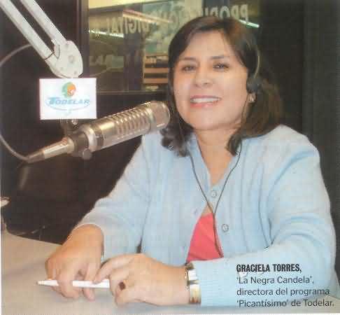 Graciela Torres, La Negra Candela.. Foto tomada de ColArte